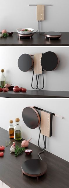 Ordine is an innovative cooking solution designed for the modern user. Optimized… Ordine is an innovative cooking solution designed for the modern user. Optimized for small spaces, the design eliminates the need for a bulky traditional stove, clearing the Tiny House Living, Living Room, Kitchen Design, Kitchen Decor, Kitchen Ideas, Kitchen Modern, Kitchen Furniture, Kitchen Small, Kitchen Industrial
