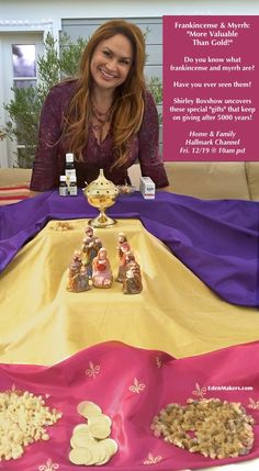 "SET YOUR DVR'S FOR FRIDAY! Shirley Bovshow presents ""Frankincense and Myrrh: More Valuable Thank Gold"" on Home & Family Show on Hallmark at 10am pst!  EdenMakers.com"