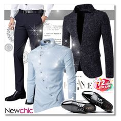 """""""Newchic Anniversary SALE"""" by mellie-m ❤ liked on Polyvore featuring Wall Pops!, men's fashion and menswear"""
