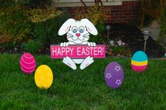 Easter Lawn Decoration by IvysWoodCreations on Etsy, $89.95