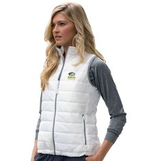 Michigan Tech Huskies Women's Apex Compressible Quilted Vest - White