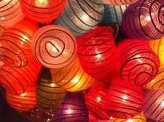 20 x Japaneses Cocoon shape handmade lantern string by cottonlight