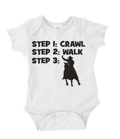 crawl walk cowboy or cowgirl rodeo custom baby infant bodysuit color and size choice black white pink blue great shower gift new on Etsy, $9.99