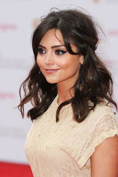 Jenna-Louise Coleman perfects a bold, sixties style flick at the TV BAFTAS