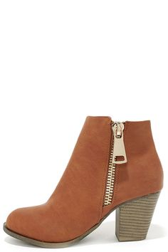 Got What You Want Cognac Ankle Boots at Lulus.com!