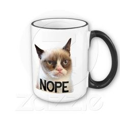 """Grumpy Cat Mug """"NOPE"""""""