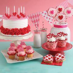 Valentine cakes, cookies and cupcakes, oh my! Valentine Cake, Be My Valentine, Glitter Cupcakes, Bakery Cakes, Glitter Hearts, Cute Cakes, Cupcake Toppers, Birthday Cake, Cookies