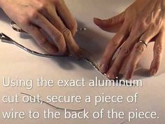 How to make aluminum tape look like hammered silver - YouTube (This method is in effect similar to the craft foam method pinned before, but easier to use for small and delicate items.)
