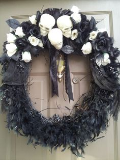 Haunted mansion wreath DIY wreath
