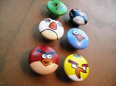 Angry Birds Dresser Knobs by HawkesHollow on Etsy