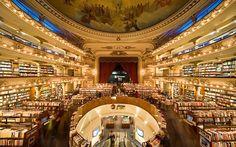 Teatro de 100 anos transformado em uma magnífica livraria - Stefany