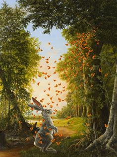 Robert Bissell- bunny and butterflies