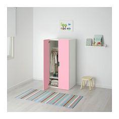 STUVA Mueble de salón con almacenaje, blanco, rosa - 60x50x128 cm - IKEA