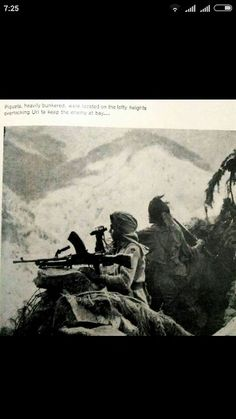 Soldier of 1st sikh Regt. with LMG during 1948 Indo-Pak war. 1st sikh is one of the oldest regt of India and also holds the rank of one of the most decorated regt with PVC,MVC,VRC..etc  Today the unit is converted into mechanized infantry battalion.