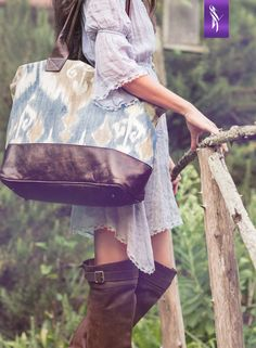Sky Ikat Bogatta Bag at Veeshee.com #veeshee