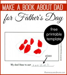 book about dad 590x663 Homemade Fathers Day gift from kids: A book about Dad (with free printable)