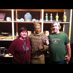 Instagram / tpaulkethley: Sid & Cindy with Han Warrior at the Houston Museum of Natural History #hmns