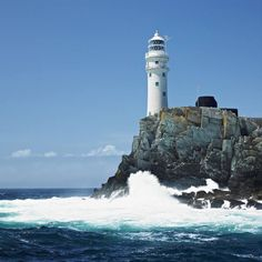 The lighthouse at Fastnet Rock, County Cork, Ireland