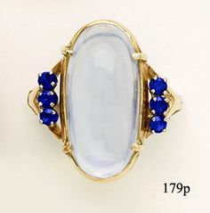 Moonstone, Sapphire, Gold, Ring, at Nelson Rarities, Inc. Portland, Maine