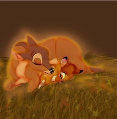 Don't cry my baby...I am here by thecutelittlekitten.deviantart.com  This melts my heart... :'(  #Disney #Bambi