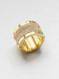 Michael Kors Pav Barrel Ring