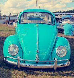 Turquoise Volkswagen Beetle Bug