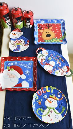 Ceramic embossed dish pallet dessert plate christmas snowman large disk dish-inDinnerware Sets from Home & Garden on Aliexpress.com