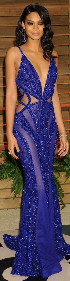 Chanel Iman in Zuhair Murad | Oscars 2014: