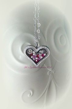 Love Rubys and Pearls in the Medium Heart Locket  Ask to Join my VIP group: https://www.facebook.com/groups/343366965853845/ Designer #11962960