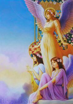 Les 3 anges dans le paradis.
