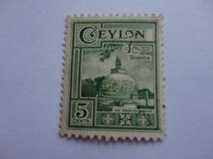 5 cents Ceylon Postage Stamp