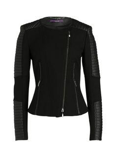 Mit dieser Jacke sind Ihnen unzählige, hochmodische Looks garantiert! Im Bruch mit feinem Spitzenkleid, Print-Shirt oder cleaner Bluse fühlt sich das Schmuckstück im Biker-Stil besonders wohl. - schwarz von LAURÈL bei OUTLETCITY.COM bestellen.