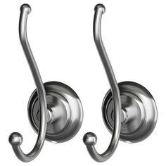 LILLHOLMEN Hook Satin Nickel Hooks from IKEA- cheap and gorgeous