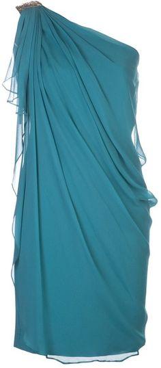 Draped One Shoulder Dress - Lyst