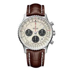Worldwide Watches Magazine Breitling Navitimer, Breitling Chronograph, Breitling Watches, Bracelet Cuir, Waterproof Watch, Watch Brands, Luxury Watches, Quartz Watch, Switzerland