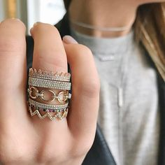 Crown your EF Collection ring stack..fit for a Queen!! Xo, EF