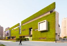 Completed in 2015 in Shanghai, China. Images by James and Connor Steinkamp. The much anticipated Shanghai Natural History Museum, designed by Perkins+Will's Global Design Director Ralph Johnson, has opened in Shanghai. Architecture Design, Green Architecture, Landscape Architecture, Public Architecture, Architecture Wallpaper, Futuristic Architecture, Amazing Architecture, Shanghai, Green Facade