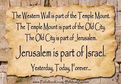 Israel is the apple of Gods eye.