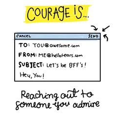 Courage Is — MICHELLE POLER Confort Zone, Bffs, Let It Be, Hay, Best Friends