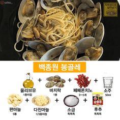 요즘 핫한 '백종원 파스타' 소스 레시피 총모음! : 네이버 블로그 K Food, Food Menu, Cooking Tips, Cooking Recipes, Healthy Recipes, Becoming A Chef, Pasta, Korean Food, Food Cravings