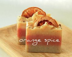 Orange Spice natural soap // homemade soap // cocoa butter soap // vanilla bean…