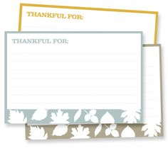 FREE DOWNLOAD | 4x6 Thankful Cards
