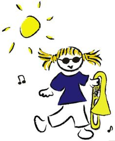 "That's why it's ""Bluesberry""! Jacquie plays trombone."