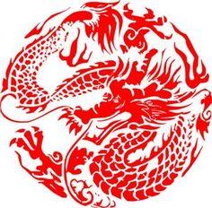Sunday Inspiration - Chinese New Year Red Dragon, Dragon Art, Chinese Zodiac Dragon, Chinese Paper Cutting, Sunday Inspiration, Red Packet, Year Of The Dragon, Chinese Design, Fauna