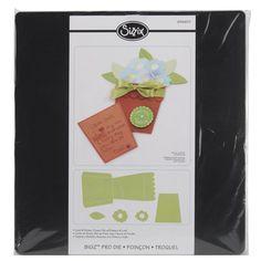 Flower Pot W/Flowers-Leaf Card & Pocket Sizzix Bigz Big Shot Pro Die 656601