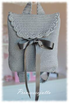 Cute little backpack made by prinsessajuttu. Basic instructions. in Finnish.