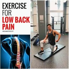 Lower Back Pain Exercises, Lower Back Pain Relief, Neck And Back Pain, Workout Humor, Butt Workout, Gym Workouts, Quad Exercises, Balance Exercises, Fitness Studio Training