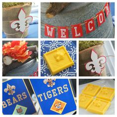 Cub Scout Blue & Gold Party Supplies from Amy's Party Ideas