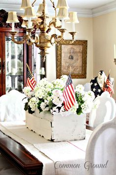 4th of July table centerpiece idea #4thofjuly #4thofjulydecor