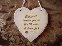 Recycled Wood Heart Wall Sign for Baby with by cedarcreektreasures, $8.00